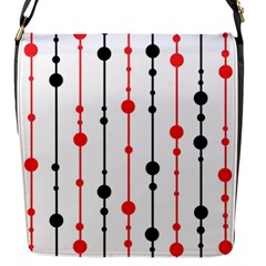 Red, Black And White Pattern Flap Messenger Bag (s) by Valentinaart