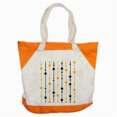 Yellow, Black And White Pattern Accent Tote Bag by Valentinaart