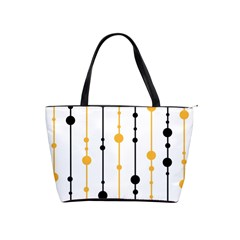 Yellow, Black And White Pattern Shoulder Handbags by Valentinaart