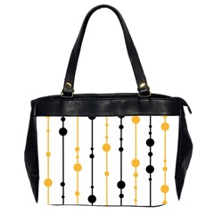 Yellow, Black And White Pattern Office Handbags (2 Sides)  by Valentinaart