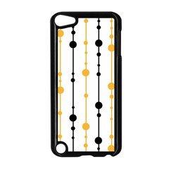 Yellow, Black And White Pattern Apple Ipod Touch 5 Case (black) by Valentinaart