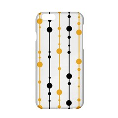 Yellow, Black And White Pattern Apple Iphone 6/6s Hardshell Case by Valentinaart