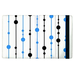 Blue, White And Black Pattern Apple Ipad 2 Flip Case by Valentinaart