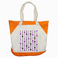 Purple, White And Black Pattern Accent Tote Bag by Valentinaart