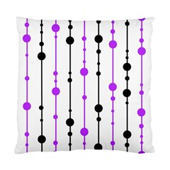 Purple, White And Black Pattern Standard Cushion Case (two Sides) by Valentinaart