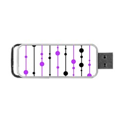 Purple, White And Black Pattern Portable Usb Flash (one Side) by Valentinaart
