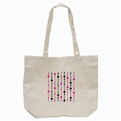 Magenta, Black And White Pattern Tote Bag (cream) by Valentinaart