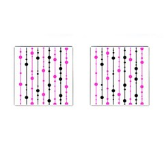 Magenta, Black And White Pattern Cufflinks (square)