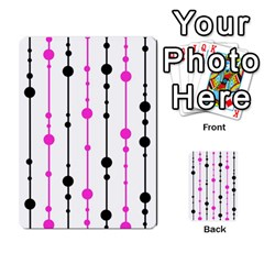 Magenta, Black And White Pattern Multi Purpose Cards (rectangle)  by Valentinaart