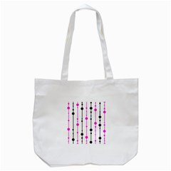 Magenta, Black And White Pattern Tote Bag (white) by Valentinaart