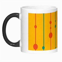 Yellow, Green And Red Pattern Morph Mugs by Valentinaart