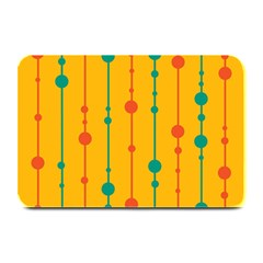 Yellow, Green And Red Pattern Plate Mats by Valentinaart