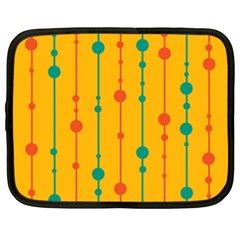 Yellow, Green And Red Pattern Netbook Case (xl)  by Valentinaart