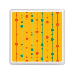 Yellow, Green And Red Pattern Memory Card Reader (square)  by Valentinaart