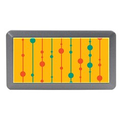 Yellow, Green And Red Pattern Memory Card Reader (mini) by Valentinaart