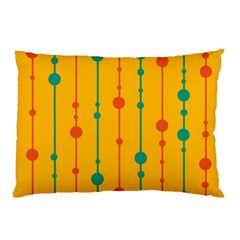 Yellow, Green And Red Pattern Pillow Case (two Sides) by Valentinaart