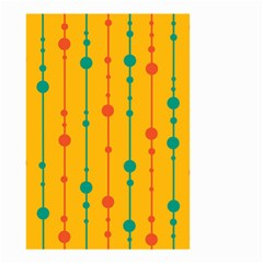Yellow, Green And Red Pattern Small Garden Flag (two Sides) by Valentinaart