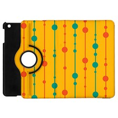 Yellow, Green And Red Pattern Apple Ipad Mini Flip 360 Case by Valentinaart