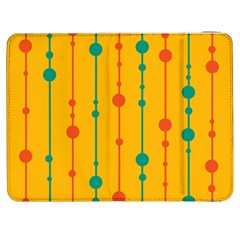 Yellow, Green And Red Pattern Samsung Galaxy Tab 7  P1000 Flip Case by Valentinaart