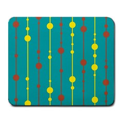 Green, Yellow And Red Pattern Large Mousepads by Valentinaart