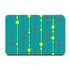 Green, Yellow And Red Pattern Small Doormat  by Valentinaart