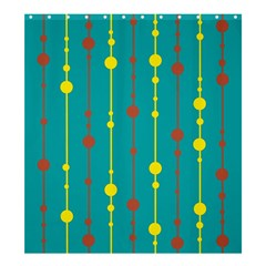 Green, Yellow And Red Pattern Shower Curtain 66  X 72  (large)  by Valentinaart