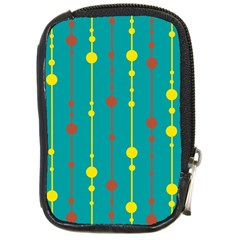 Green, Yellow And Red Pattern Compact Camera Cases by Valentinaart