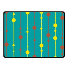 Green, Yellow And Red Pattern Fleece Blanket (small) by Valentinaart