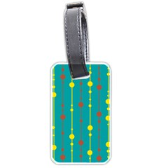 Green, Yellow And Red Pattern Luggage Tags (one Side)  by Valentinaart