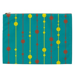 Green, Yellow And Red Pattern Cosmetic Bag (xxl)  by Valentinaart