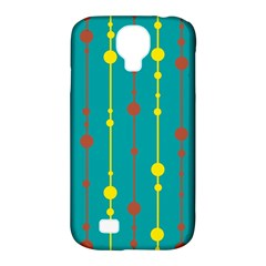 Green, Yellow And Red Pattern Samsung Galaxy S4 Classic Hardshell Case (pc+silicone) by Valentinaart