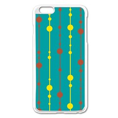 Green, Yellow And Red Pattern Apple Iphone 6 Plus/6s Plus Enamel White Case by Valentinaart