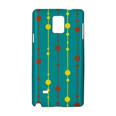 Green, Yellow And Red Pattern Samsung Galaxy Note 4 Hardshell Case by Valentinaart
