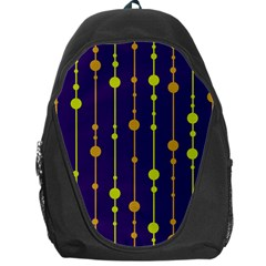 Deep Blue, Orange And Yellow Pattern Backpack Bag by Valentinaart