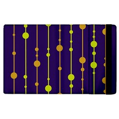 Deep Blue, Orange And Yellow Pattern Apple Ipad 3/4 Flip Case by Valentinaart
