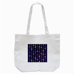 Deep Blue, Orange And Yellow Pattern Tote Bag (white) by Valentinaart