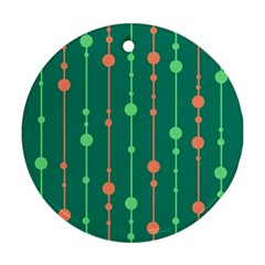 Green Pattern Ornament (round)  by Valentinaart