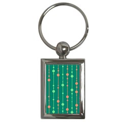 Green Pattern Key Chains (rectangle)  by Valentinaart