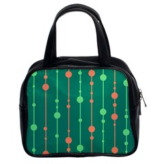Green Pattern Classic Handbags (2 Sides) by Valentinaart