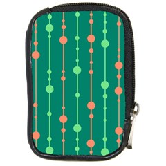 Green Pattern Compact Camera Cases by Valentinaart