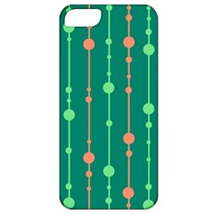 Green Pattern Apple Iphone 5 Classic Hardshell Case by Valentinaart