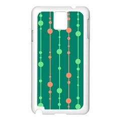 Green Pattern Samsung Galaxy Note 3 N9005 Case (white) by Valentinaart