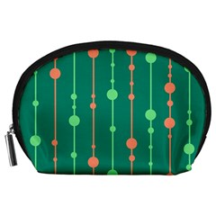 Green Pattern Accessory Pouches (large)  by Valentinaart