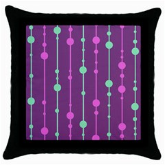 Purple And Green Pattern Throw Pillow Case (black)