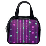 Purple and green pattern Classic Handbags (2 Sides) Back