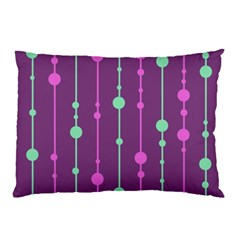Purple And Green Pattern Pillow Case by Valentinaart