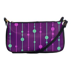 Purple And Green Pattern Shoulder Clutch Bags by Valentinaart