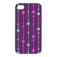 Purple And Green Pattern Apple Iphone 4/4s Hardshell Case by Valentinaart