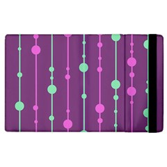 Purple And Green Pattern Apple Ipad 2 Flip Case by Valentinaart