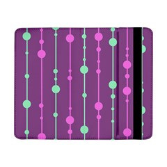 Purple And Green Pattern Samsung Galaxy Tab Pro 8 4  Flip Case by Valentinaart